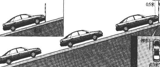 科目二坡道定点停车和起步扣分标准