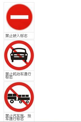 禁止通行标志种类有哪些|道路交通标志 - 驾照网