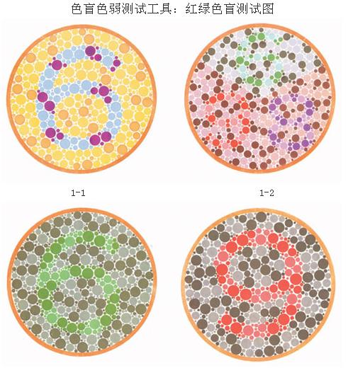 2015考驾照色盲检测图