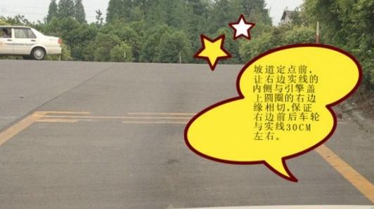 坡道定点停车和起步怎么看点