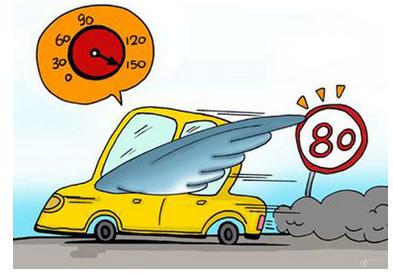 超速行驶时,超车,会车的机会增多