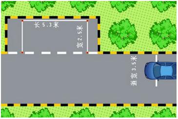 侧方停车位尺寸及考试评判标准