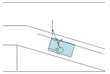 科目二坡道定点停车边线距离确定方法
