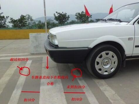 坡道定点停车30cm技巧
