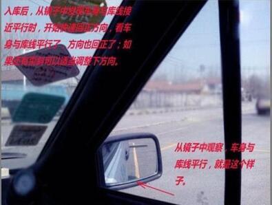 (一)科目二倒车入库技巧图解——右倒库: 驾照网(jiazhao.