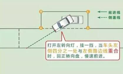 科目二侧方位停车详细技巧图解