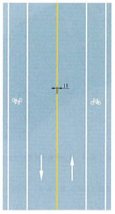 黄色单实线禁止跨越对向车行道分界线标志